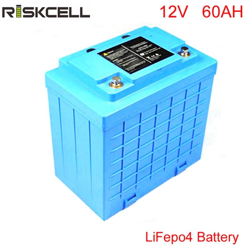 Глубокий цикл 12 В литий ионный Аккумулятор lifepo4 12 В 60Ah для хранения солнечной энергии batterypower хранения велосипеда