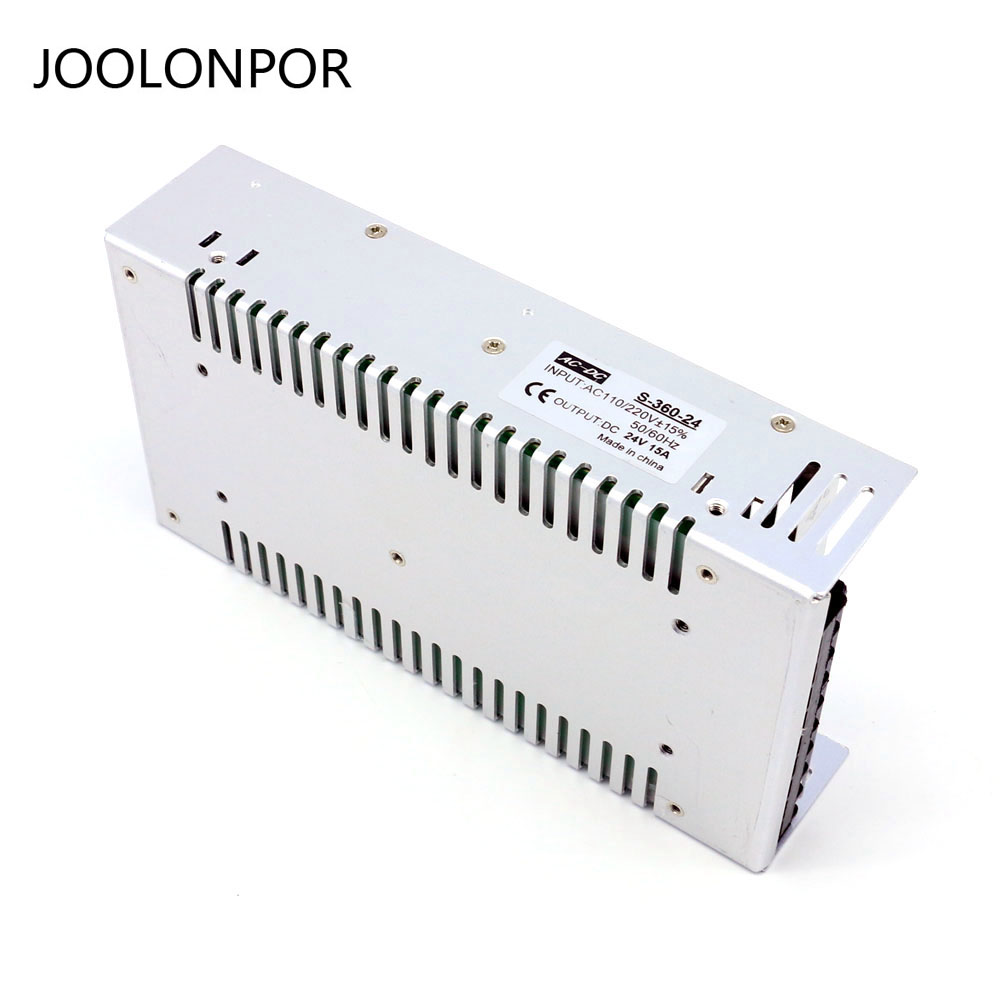 JOOLONPOR DC 24V 360W Lighting Transformers Power Supply LED Driver Power for LED Strip Light Switch Power Supply JOOLONPOR DC 24V 360W Lighting Transformers Power Supply LED Driver Power for LED Strip Light Switch Power Supply