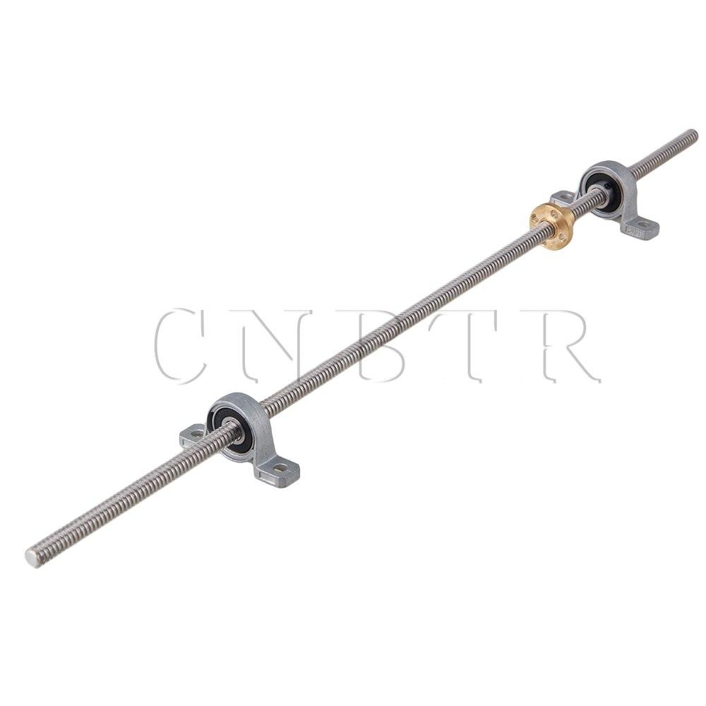 CNBTR Horizontal 8mm 450mm Length Lead Screw Rod Bearing Pillow Block Set stylish hope letter printed horizontal block pillow case