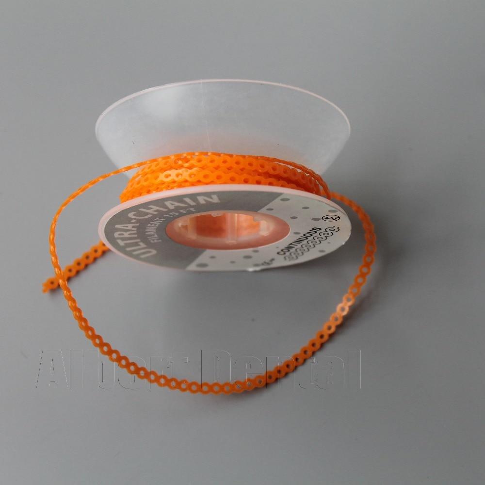 Dental Orthodontics Spool Elastic Ultra Power Chains Orange Color ...