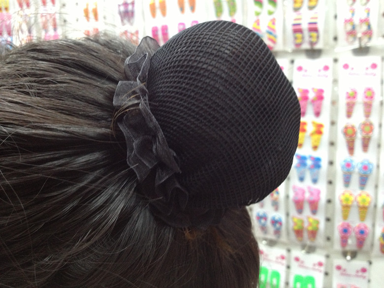Beautiful Bun Cover Snood Women Hair Net Ballet Dance Skating Crochet Fanchon Rhinestone Styling Headwear Accessories