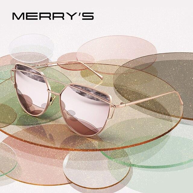 MERRYS дизайн Для женщин классический twin-лучей Мода кошачий глаз солнцезащитные очки UV400 защиты S7882N