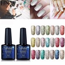 HNM 10 мл Супер Bling лак для ногтей 30 цветов Звездный Bling УФ Гель-лак для ногтей Полупостоянный лак стойкий Гель-лак
