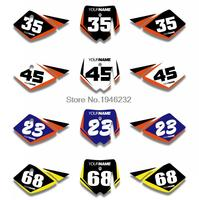H2CNC Custom Number Plate Background Graphics Sticker & Decal For KTM 50 SX 2002 2003 2004 2005 2006 2007 2008