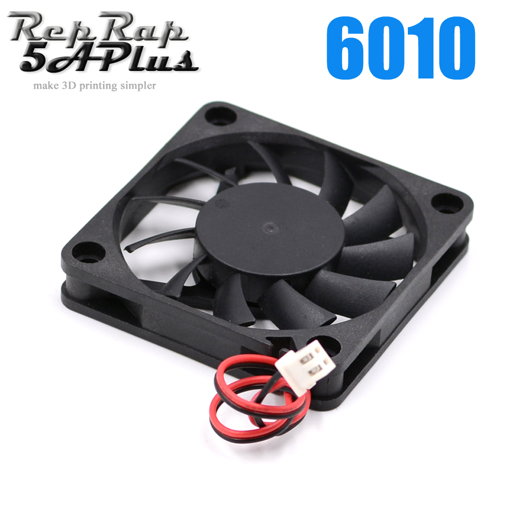 6010 DC 12V Cooling Fan Brushless for Reprap 3D Printer Parts DC Cooler 60x60x11mm Plastic Fan maitech dc 12 v 0 1a cooling fan red silver