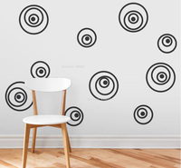 Crazy Eyes Circles Wall Stickers Removable Vinyl Wall Decals For Living Room Creative Decoration Self Adhesive Sticker ZA671