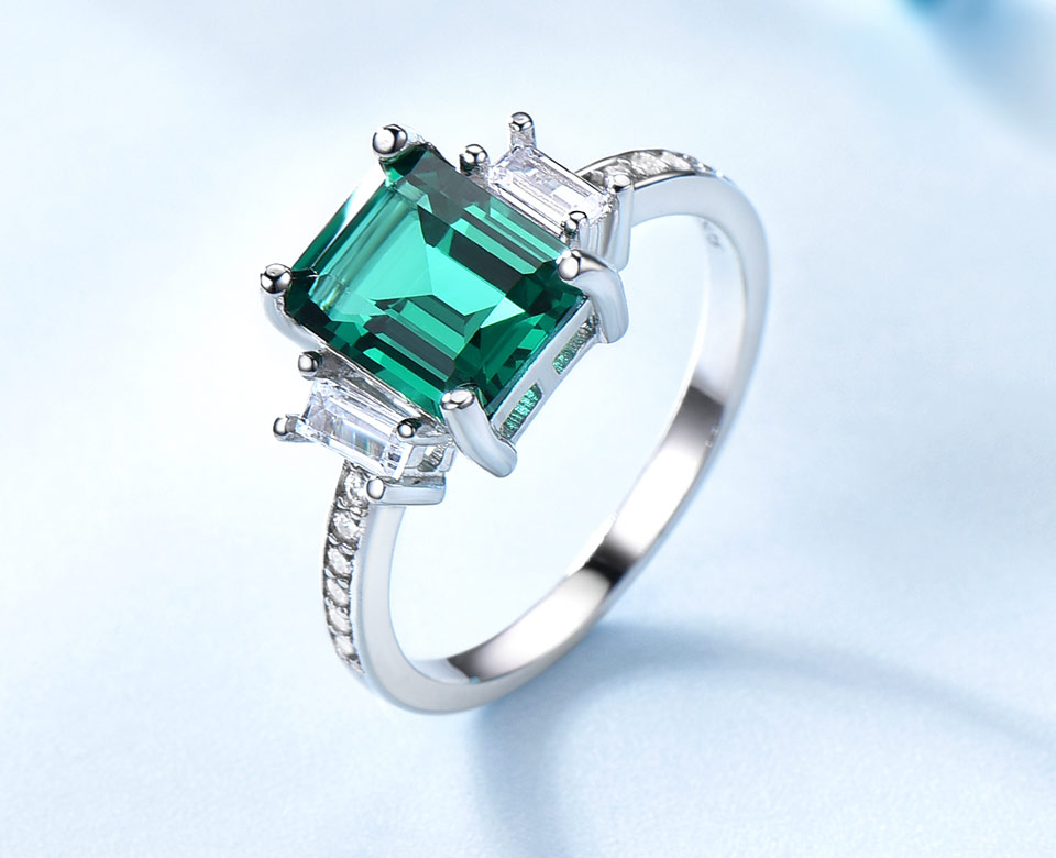 HTB1BwQuA5CYBuNkHFCcq6AHtVXa1 UMCHO Green Emerald Genuine 925 Sterling Silver Rings for Women Promise Princess Gemstone Ring Wedding Romantic Jewelry Gift New