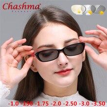Myopia Sunglasses Photochromic Finished Women Eyeglasses Frame with color Lens Sun glasses Eyewear -1.0 -1.5 -1.75