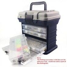 27x17x26 см 4 Слои PP + ABS море рыболовные снасти коробка с Пластик Ручка для хранения рыболовных приманки инструменты аксессуары для рыбалки