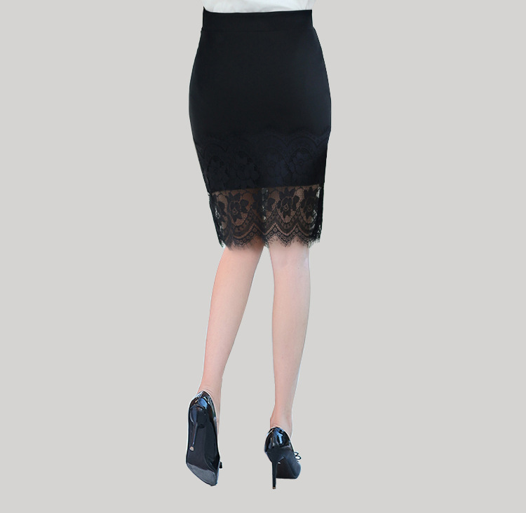 Lace skirt 2016 Leisi package hip skirt was thin waist and long skirt career step skirts women 3