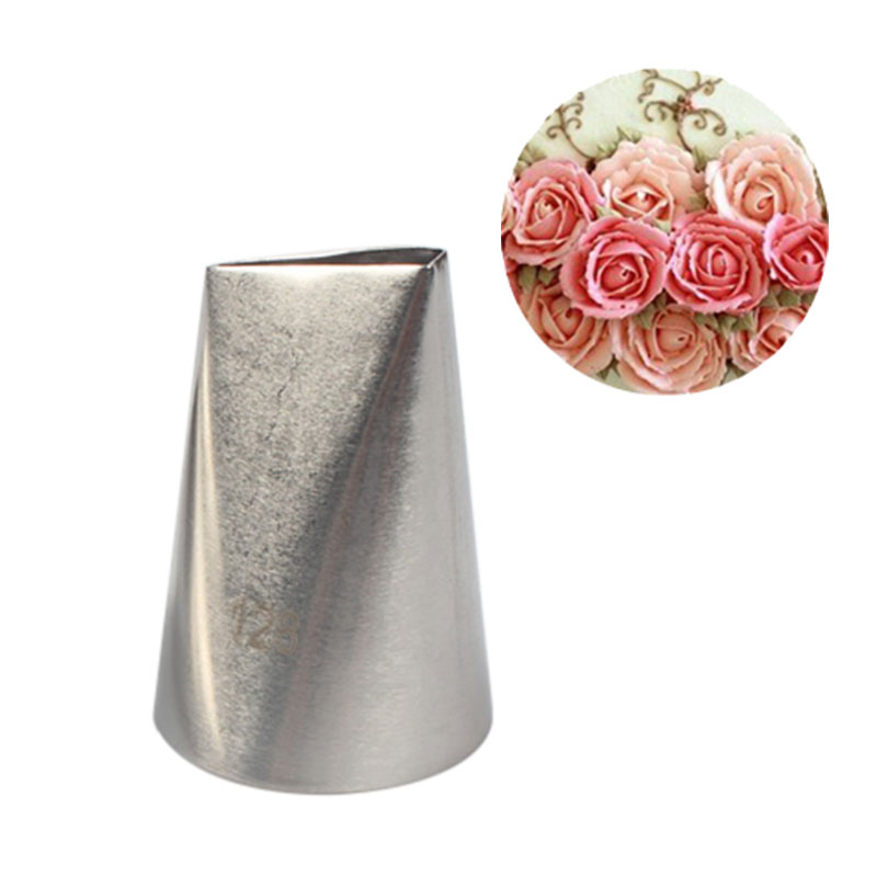 # 128 Large Rose Metal Ream Tips Pastry Tools Stainless Steel Icing Piping Nozzles Cupcake Cake Cream Decoration
