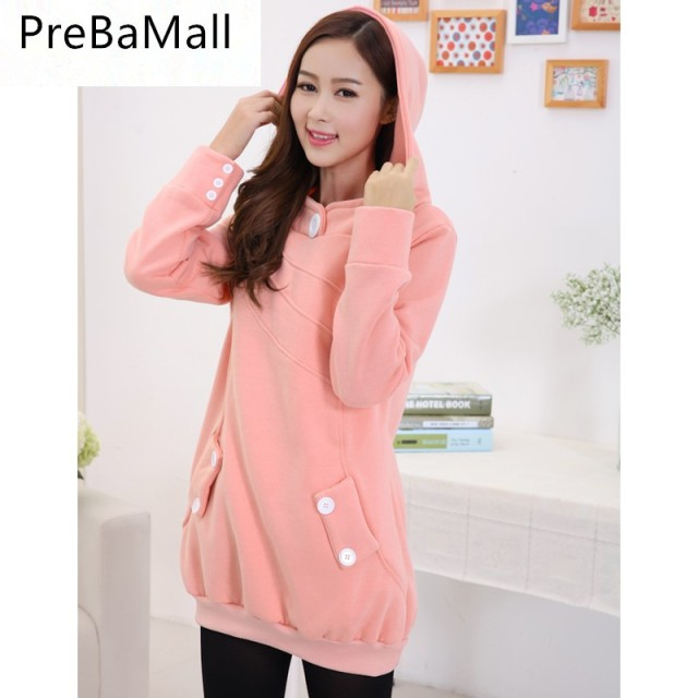 23f55a5b840 Plus Size Pregnancy Long Sleeves Coat Maternity Clothes thickening Hoodie  Tops Outdoor T-shirt Clothing for Pregnant Women B0495