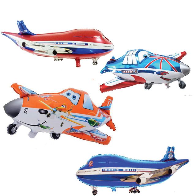 Inflatables New Gifts Aircraft Cartoon Special Shaped Aluminum Foil Children Toy Birthday 2 4 Years Kids Inflatable Bouncers in Inflatable Bouncers from Toys Hobbies
