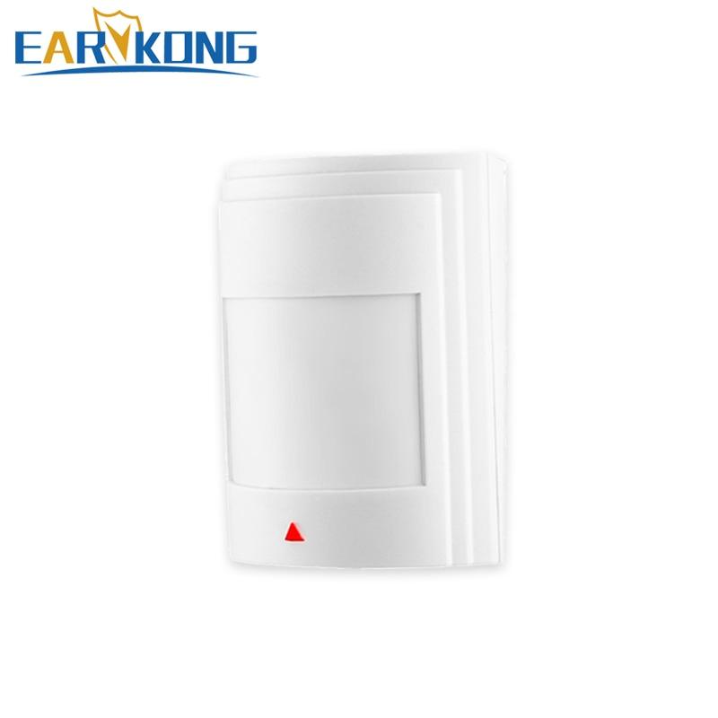Detector de movimiento infrarrojo PIR con cable, para sistema de alarma GSM antirrobo en casa,