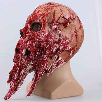 Halloween Scary Adults Men Bloody Zombie Skeleton Face Mask Costume Horror Latex Masks Cosplay Fancy Masquerade Props 1