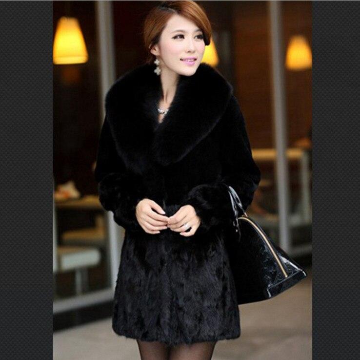 Новое поступление продукты Модный большой меховой воротник шерстяные пальто женские пальто