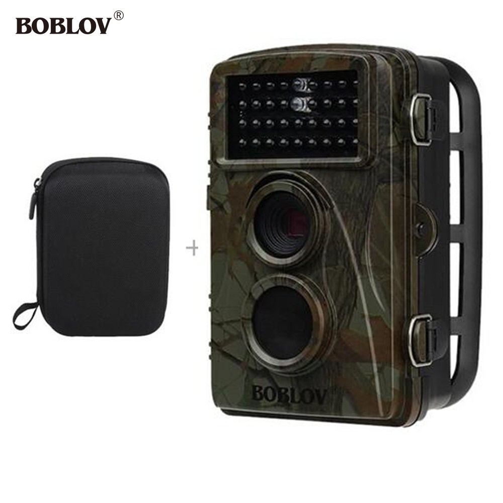BOBLOV CT007 LCD 940nm 12MP Infrared Trail Hunting Scouting Camera Scouting Wildlife Photo Traps IR 34pcs LEDs+Bag Dropshipping ltl acorn 5210a scouting hunting camera photo traps ir wildlife trail surveillance 940nm low glow 12mp