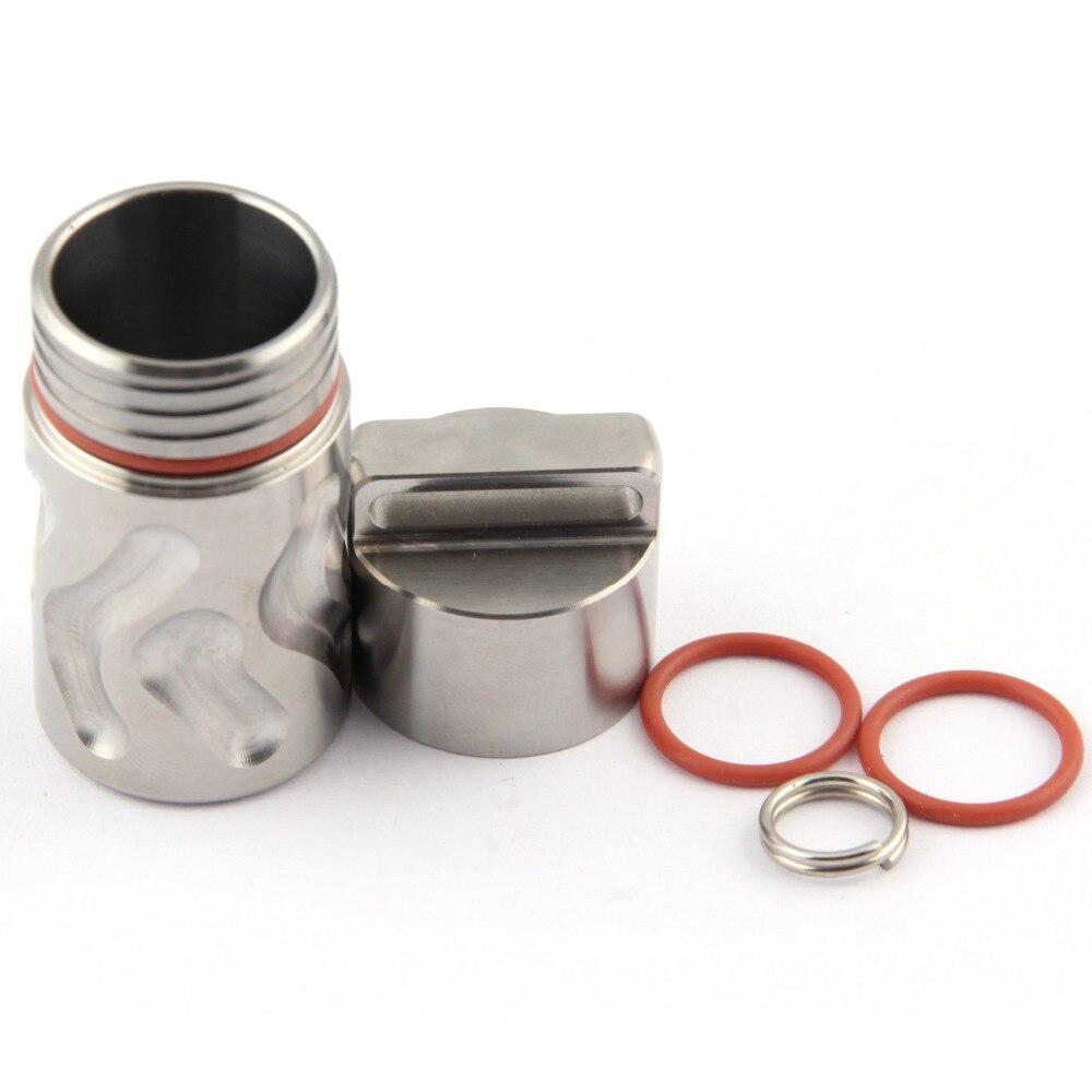 Titaner titane EDC conteneur étanche boîte à pilules étui à médicaments conteneur porte-bouteille porte-clés Camping survie voyage Kit