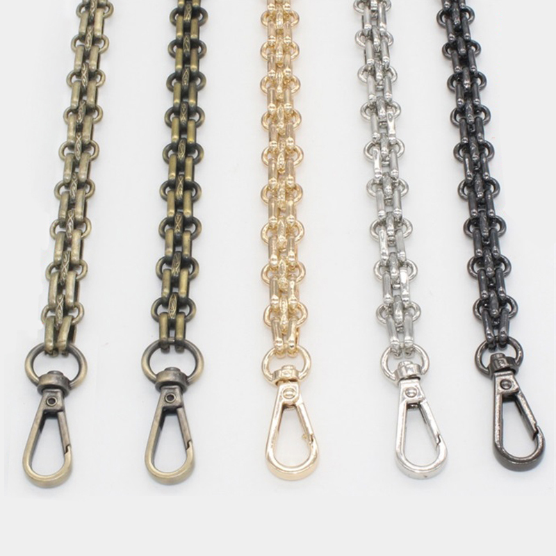 120cm ( DIY 50cm-140cm) Gold, Silver, Gun Black, Bronze 12mm Bag Metal Replacement Purse Chain Shoulder Strap for Handbag Handle цены онлайн