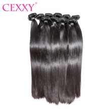 CEXXY Hair Virgin Hair Straight 10PCS Lot Human Hair Bundles Free Shipping(China)