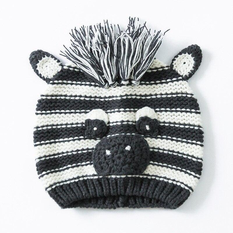2016 Black Cute Boy Bear Hat Soft Cotton Crochet Kids Beanies Fall Winter Children Cap Handmade Knit Windproof Earmuffs Cap