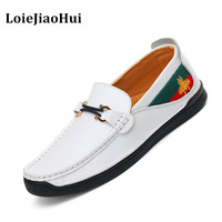2017 New Fashion Men High Quality Genuine Leather Loafers Luxury Brand Casual Flats Lazy Shoes Moccasins