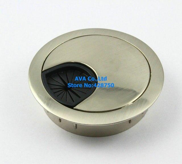 Merveilleux 5 Pieces METAL COMPUTER DESK TABLE CABLE GROMMET HOLE COVER WIRE GROMMET /  50mm