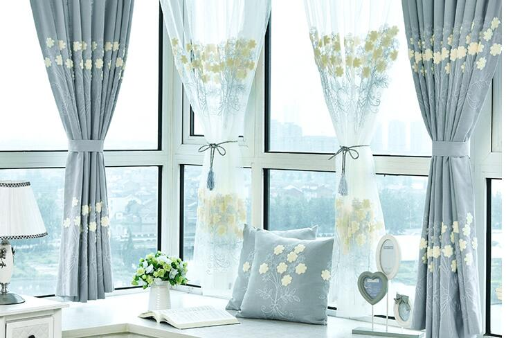 Curtain Embroidered Simple curtain modern curtain finished products pastoral cotton hemp embroidered living room bedroom shade Curtain Embroidered Simple curtain modern curtain finished products pastoral cotton hemp embroidered living room bedroom shade