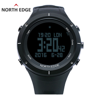 Северная край Для мужчин спортивный цифровые часы Часы сердечного ритма бег плавание часы альтиметр барометр, термометр, компас шагомер