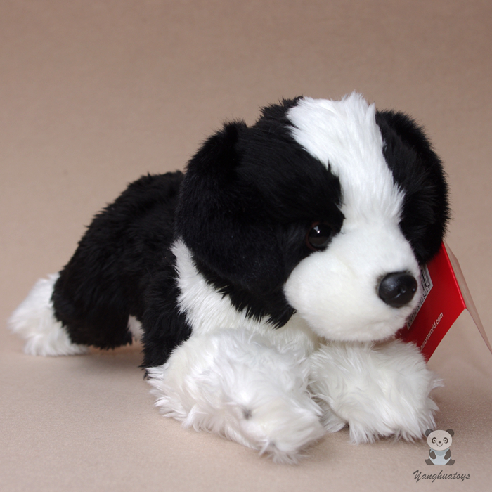 Border Collie Doll Children'S  Plush Toys Gift Lying Dog  Dolls  Simulation Animal Car Decoration