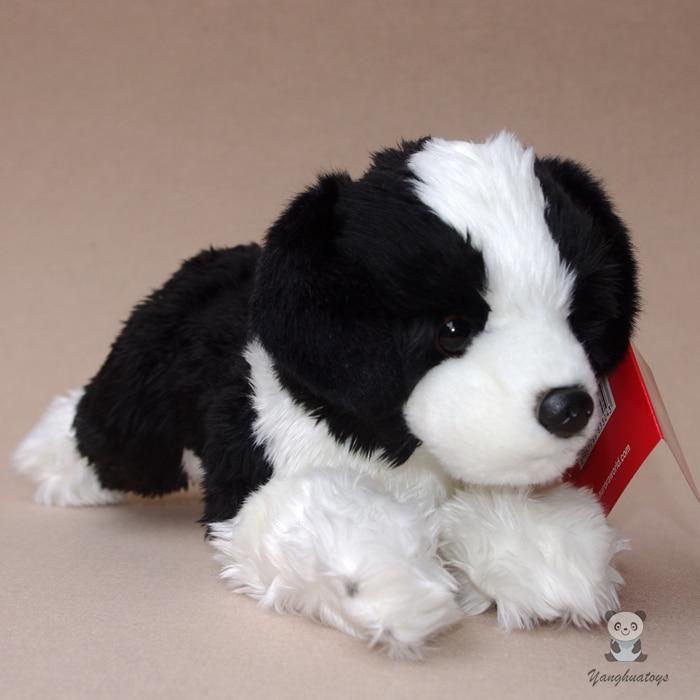 Border Collie Doll Children'S  Plush Toys Gift Lying Dog  Dolls  Simulation Animal Car Decoration