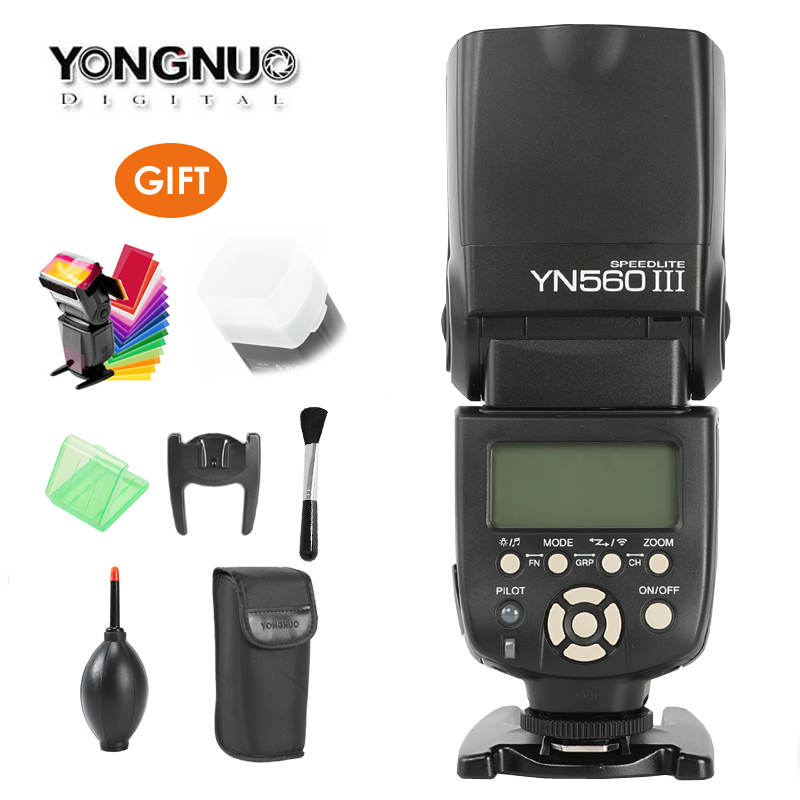 YONGNUO YN560III YN560-III YN560 III Wireless Flash Speedlite Speedlight for Canon Nikon Olympus Panasonic Pentax Camera DSLR yongnuo yn560 iii yn560iii flash speedlite flashlight for canon nikon pentax olympus panasonic dslr camera upgrade of yn560 ii