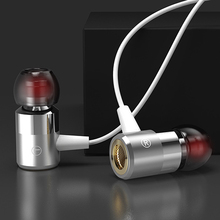 qijiagu 3.5mm interface wire control intelligent conversion universal double bass earplug mic mobile phone ear earphone