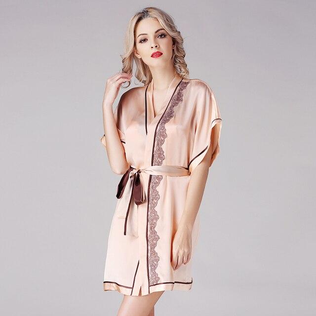 64f1d81d06048 Женский шелковый халат платье 2019 китайский шелк наряд для подружки  невесты шелковые свадебные халаты плюс размер