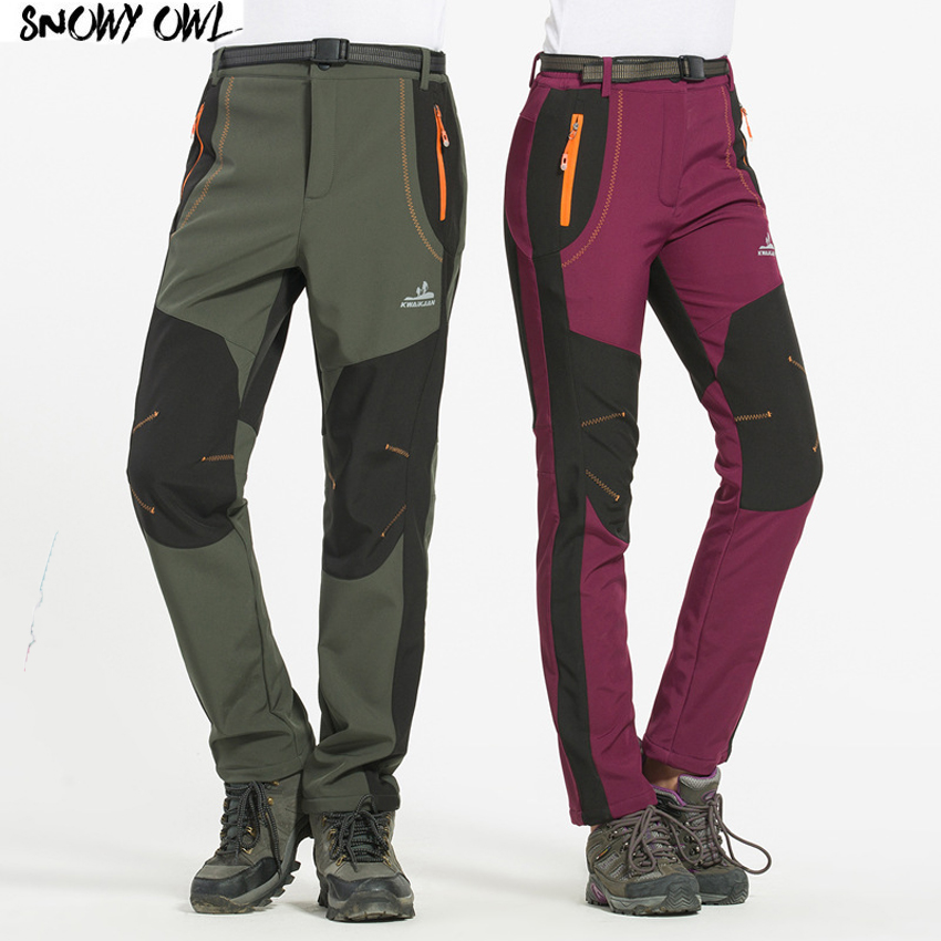 50a6bdc5253 2018 Thickening Speed Dry Pants Men and Women Snowboard Outdoor Leisure  Sport Breathable Winter Ski Pants