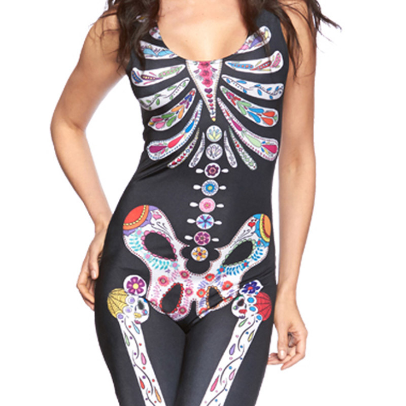 sexy halloween costume ideas brand women rompers womens jumpsuit 2016 fashion skin tight skeleton bodysuits on aliexpresscom alibaba group