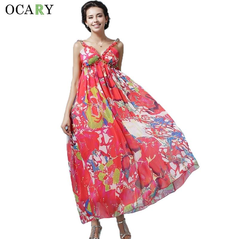 casual loose beach dress fashion boho maxi dress elegant backless