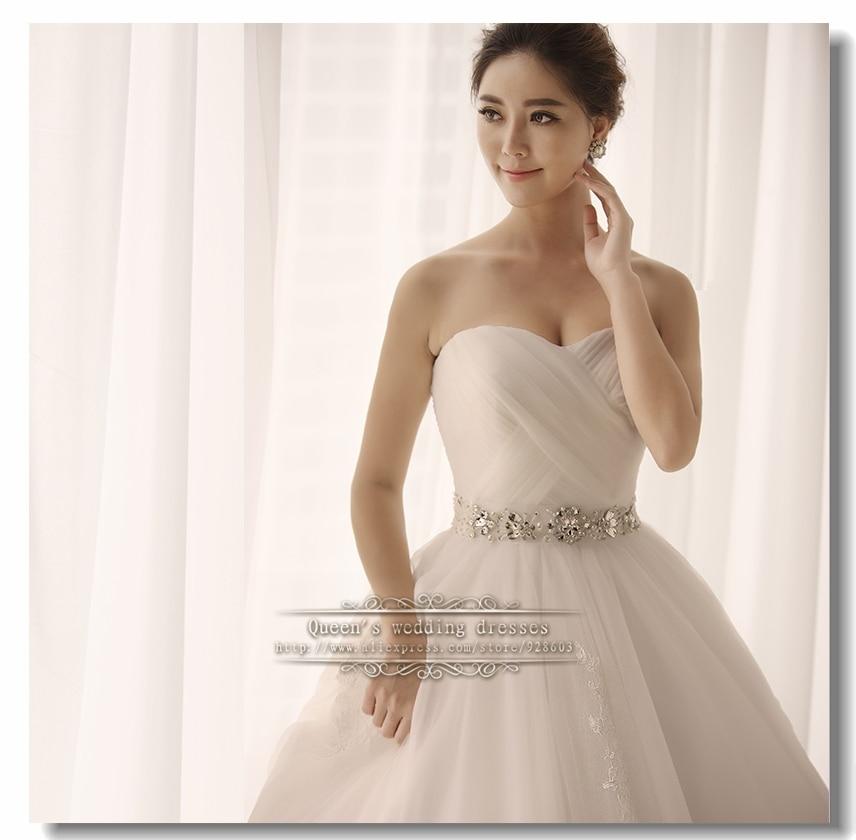 Sin tirantes lazo de vestido de boda negro novia fajas y cinturón menos de $200 - 3