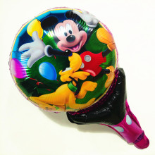 2 pcs Mickey Party Supplies Cheer Stick Decoration Kids Birthday Cartoon Hand Balloons