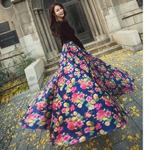 New 2018 Autumn Winter Party Long Dress Women V-Neck Velour Charming Floral  Print Patchwork Long Sleeve Maxi Gown Dress Prom ea3f551da23a