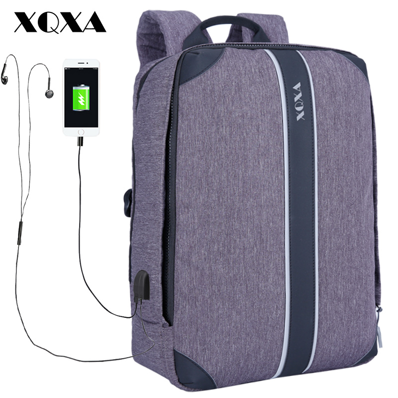 XQXA Laptop Backpack Men 15.6 17 inch Anti Thief Multifunction School Bags for Teenage Girls Boys Back pack Women Travel Bag 14 15 15 6 inch flax linen laptop notebook backpack bags case school backpack for travel shopping climbing men women