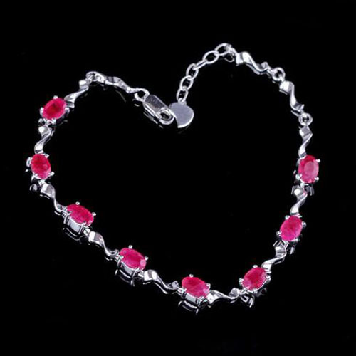 2017 Limited Qi Xuan_Free Mail Red Stone Elegant Bracelets_S925 Solid Silver Fashion Red Bracelets_Manufacturer Directly Sales 2017 rushed qi xuan red stone bangles