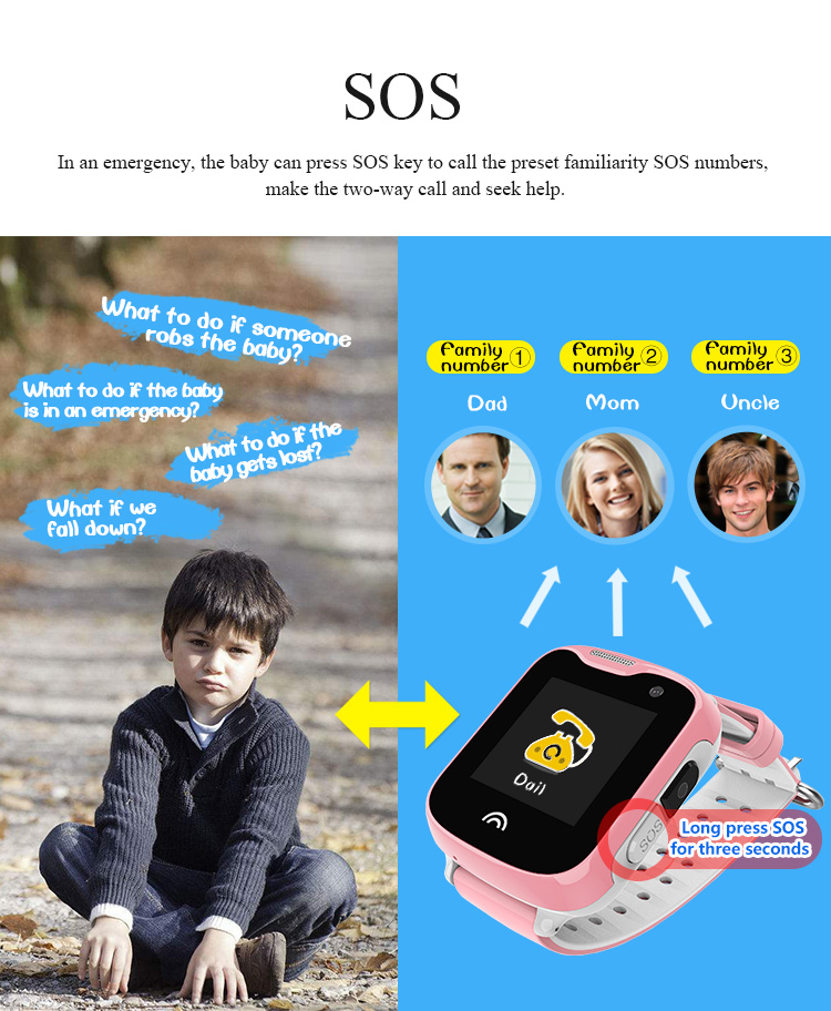 IP67 Waterproof Smart Kids Child Watch Baby Safe Smartwatch GPS WIFI LBS SOS Location Tracker Remote Camera Monitor Smart Watch 11