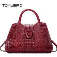 TOMUBIRD Для женщин сумка натуральная кожа сумка с тиснением с узором «крокодиловая кожа» сумки через плечо большая емкость топ-ручка сумки