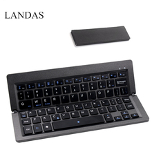 Фотография Landas Universal Foldable Keyboard Bluetooth Wireless For IOS Android Windows Smart Phone Laptop Mini Folding Keyboard Tablet