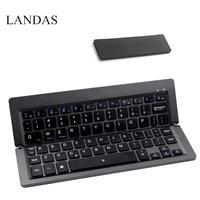 Landas Universal Foldable Keyboard Bluetooth Wireless For IOS Android Windows Smart Phone Laptop Mini Folding Keyboard Tablet