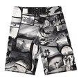 Más el Tamaño de Playa Pantalones Cortos Para Hombre Bermudas Boardshorts de Surf Para Hombres de trajes de Baño de Natación Surf Shorts 2016 Placa de Plata de Secado rápido