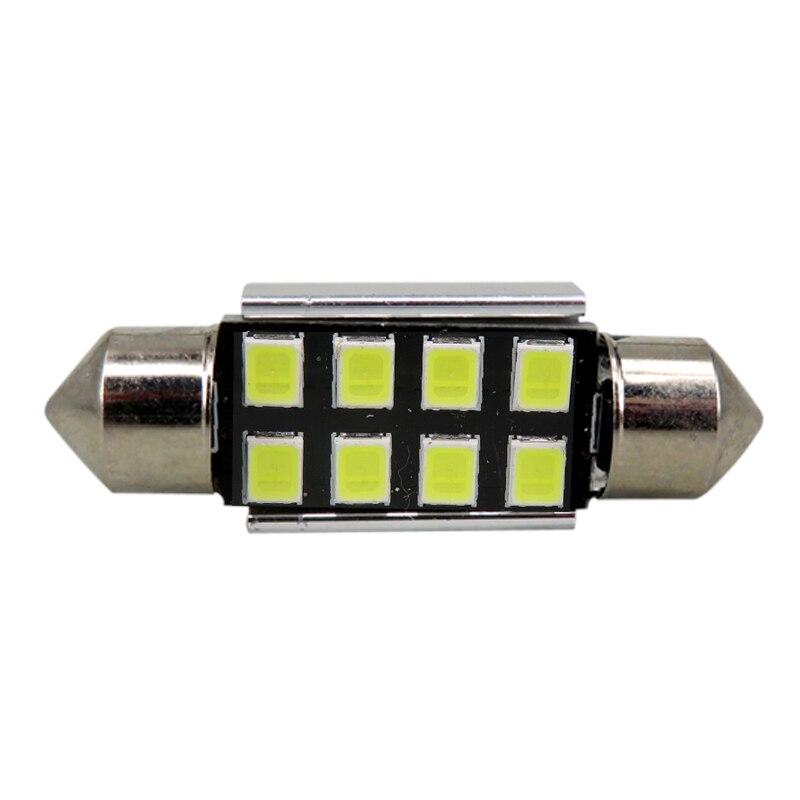 10x 38MM 39MM NUMBER PLATE INTERIOR LIGHT FESTOON BULB 6 SMD LED WHITE 239