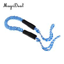 MagiDeal  2 Pieces Red & Blue 3.5ft Bungee Dock Ties Stretch DOCK LINE Boat Marine Mooring Rope