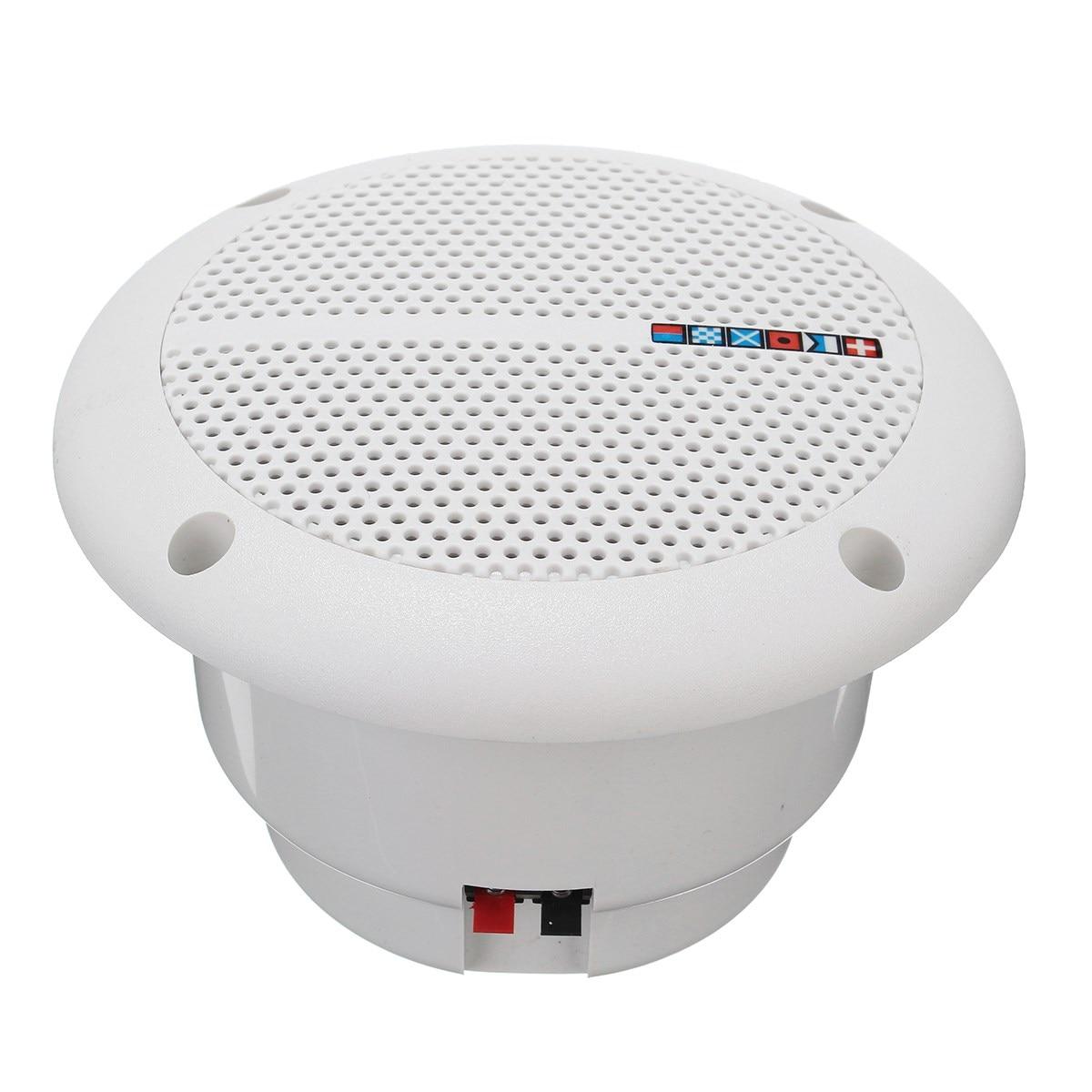 In wall bathroom speakers - New 1 Pair Loudspeakers Waterproof Marine Boat Ceiling Wall Speakers Kitchen Bathroom Water Resistant China